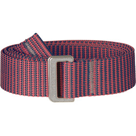 Fjällräven Striped Webbing Belt peach pink-dusk